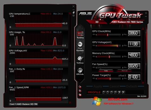 Skjermbilde ASUS GPU Tweak Windows 7