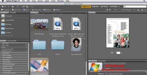 Skjermbilde Adobe Bridge Windows 7