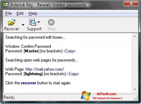 Skjermbilde Asterisk Key Windows 7