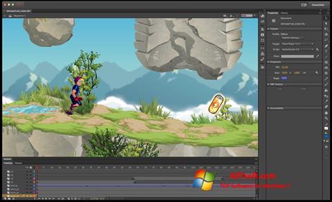 Skjermbilde Adobe Flash Professional Windows 7
