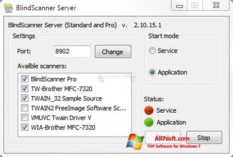 Skjermbilde BlindScanner Windows 7