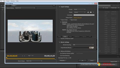 Skjermbilde Adobe Media Encoder Windows 7