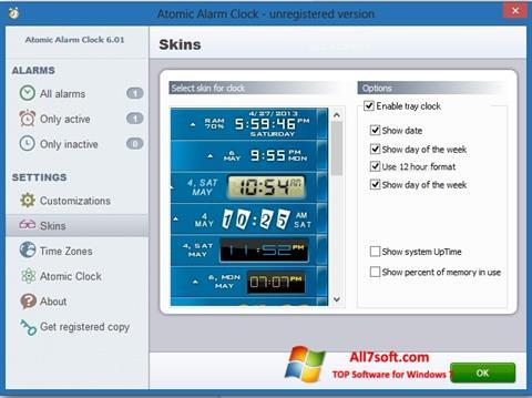 Skjermbilde Atomic Alarm Clock Windows 7