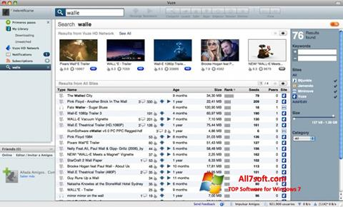 Skjermbilde Vuze Windows 7
