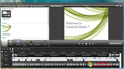 Skjermbilde Camtasia Studio Windows 7