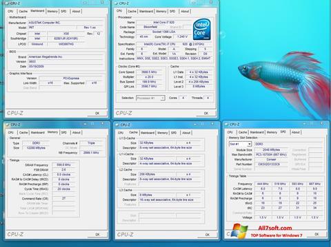 Skjermbilde CPU-Z Windows 7