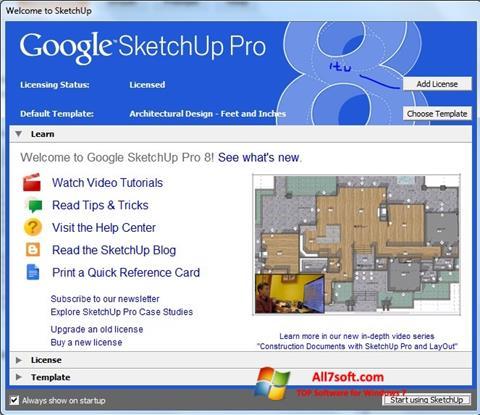 Skjermbilde Google SketchUp Pro Windows 7