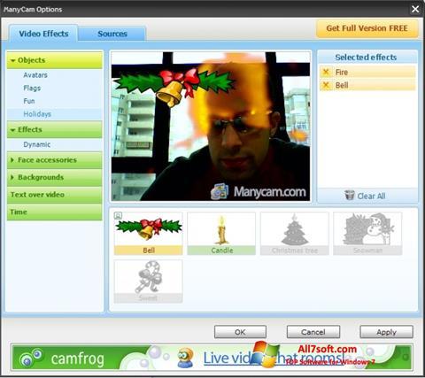 Skjermbilde ManyCam Windows 7