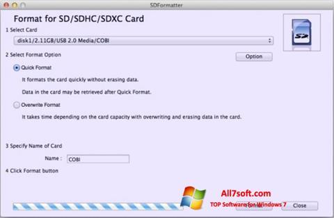 Skjermbilde SDFormatter Windows 7
