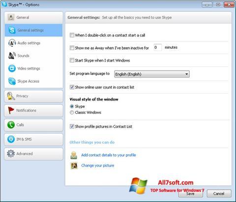 Skjermbilde Skype Setup Full Windows 7