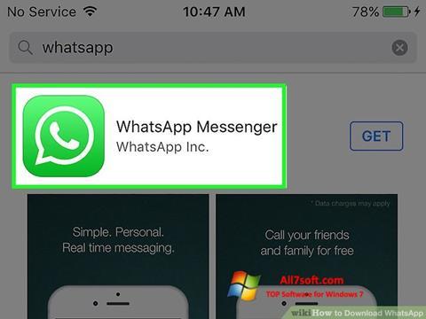 Skjermbilde WhatsApp Windows 7