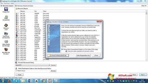 Skjermbilde BadCopy Pro Windows 7