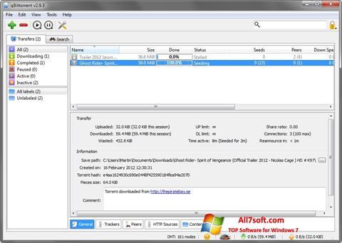 Skjermbilde qBittorrent Windows 7