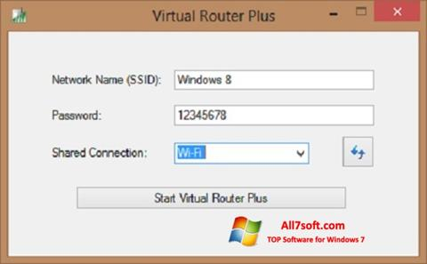 Skjermbilde Virtual Router Plus Windows 7
