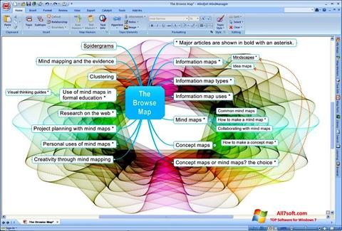 Skjermbilde MindManager Windows 7