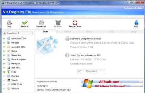 Skjermbilde Vit Registry Fix Windows 7