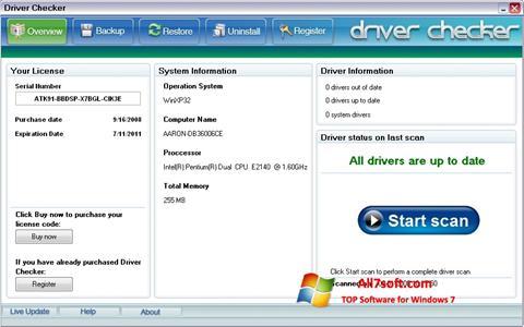 Skjermbilde Driver Checker Windows 7