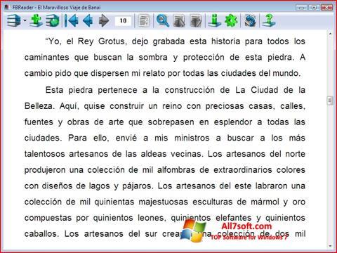 Skjermbilde FBReader Windows 7