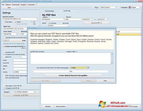 Skjermbilde Scan2PDF Windows 7