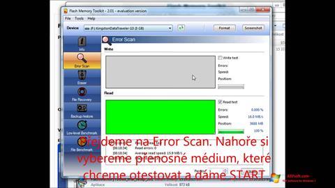 Skjermbilde Flash Memory Toolkit Windows 7