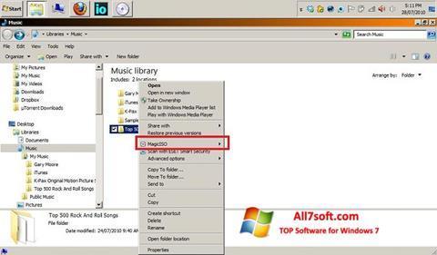 Skjermbilde MagicISO Windows 7
