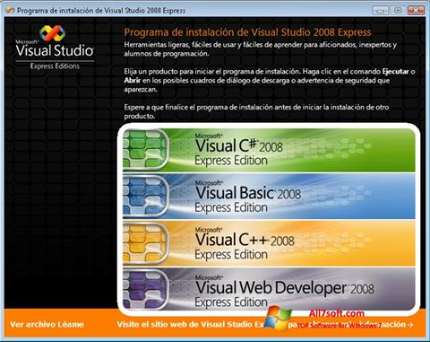 Skjermbilde Microsoft Visual Studio Windows 7