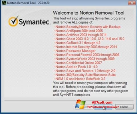 Skjermbilde Norton Removal Tool Windows 7