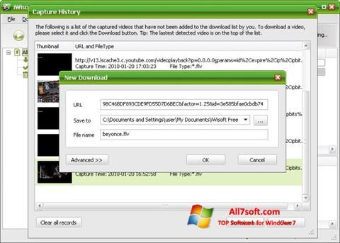 Skjermbilde Free Video Catcher Windows 7