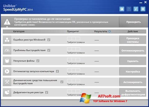 Skjermbilde SpeedUpMyPC Windows 7