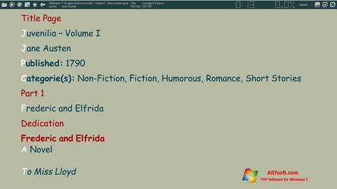 Skjermbilde ICE Book Reader Windows 7