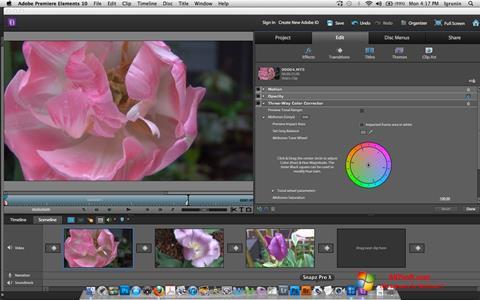 Skjermbilde Adobe Premiere Elements Windows 7