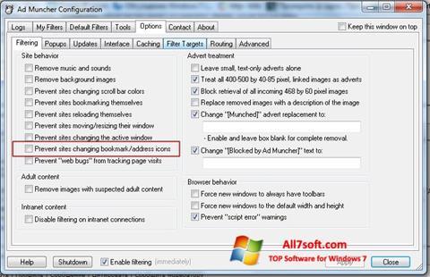 Skjermbilde Ad Muncher Windows 7