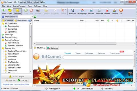 Skjermbilde BitComet Windows 7