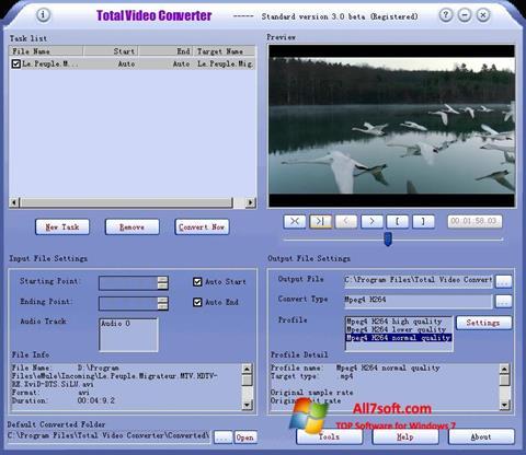 Skjermbilde Total Video Converter Windows 7
