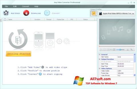 Skjermbilde Any Video Converter Windows 7