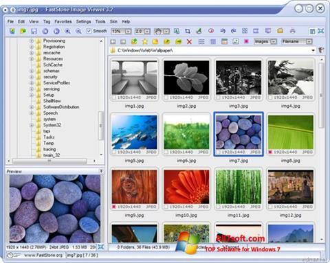 Skjermbilde FastStone Image Viewer Windows 7