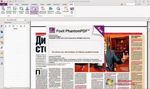 Skjermbilde Foxit Phantom Windows 7