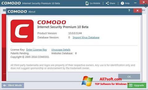 Skjermbilde Comodo Windows 7
