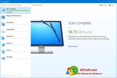 Skjermbilde CleanMyPC Windows 7