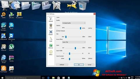 Skjermbilde RocketDock Windows 7