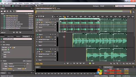 Skjermbilde Adobe Audition CC Windows 7