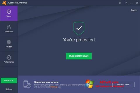 Skjermbilde Avast Free Antivirus Windows 7