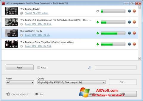 Skjermbilde Free YouTube Download Windows 7
