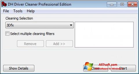 Skjermbilde Driver Cleaner Windows 7
