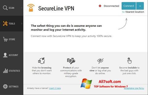 Skjermbilde Avast SecureLine VPN Windows 7