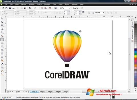 Skjermbilde CorelDRAW Windows 7