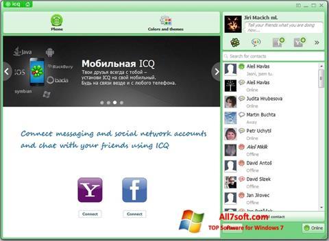 Skjermbilde ICQ Windows 7