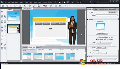 Skjermbilde Adobe Captivate Windows 7