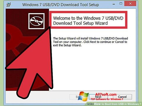 Skjermbilde Windows 7 USB DVD Download Tool Windows 7