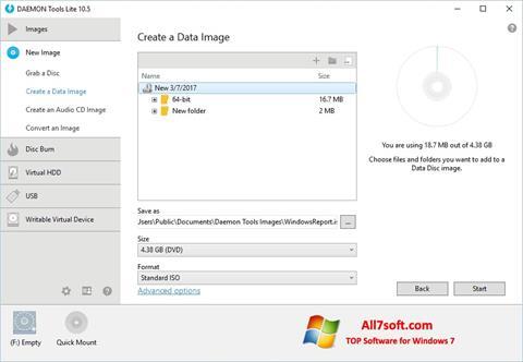Skjermbilde DAEMON Tools Lite Windows 7